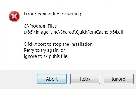 Error opening file for writing (Installation)