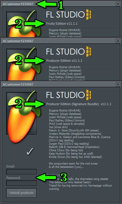 How to know you have the correct FL Studio version registered?
