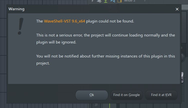 Waveshell problem in FL Studio 12, again - Image-Line